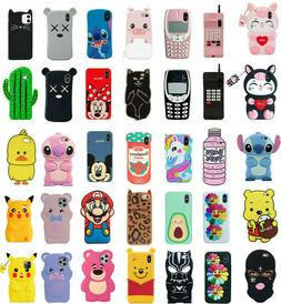 Case Cover For iPhone 5S 6 7 8 Plus XR XS MAX Cute 3D Cartoo