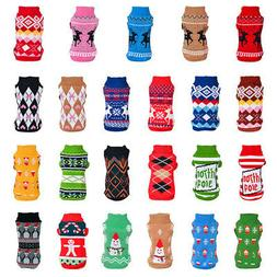 Christmas Dog Sweater Pet Knitwear Puppy Sweaters For Chihua