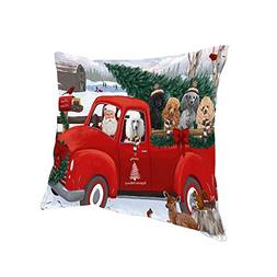 Doggie of the Day Christmas Santa Express Delivery Poodles D