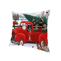 Doggie of the Day Christmas Santa Express Delivery Rottweile