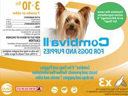 Combiva II Flea Treatment for Dogs and Puppies 3-10lbs 3 Dos