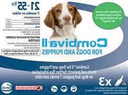 Combiva II Flea Treatment for Dogs and Puppies 21-55lbs 3 Do