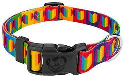 Country Brook Petz® Deluxe Rainbow Hearts Dog Collar