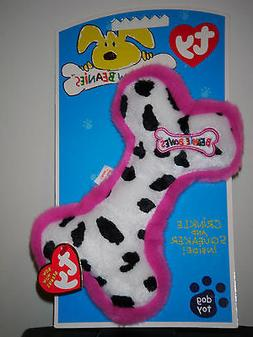 Ty Bow Wow Beanies ~ COW PRINT BONE - Crinkle/Squeak Toy ~ M