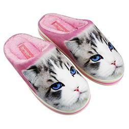 Creative Print Couples Slippers Cartoon Cute Scuff Slippers
