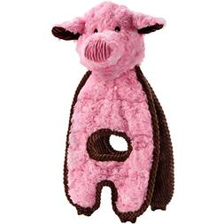 Charming Pet Cuddle Tugs Dog Toy - Pig