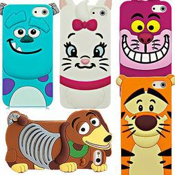 Cute 3D Cartoon Silicone Rubber Back Case Cover For Apple iP