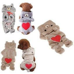 Cute Bear Costume Jumpsuit Hoodie Pet Clothes Apparel For Do