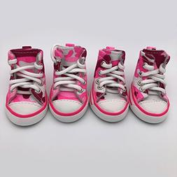PetFavorites Cute Puppy Pet Dog Sporty Shoes Lace up Pink Ca