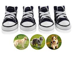 abcGoodefg Cute Puppy Pet Dog Sporty Shoes Lace up Blue Canv