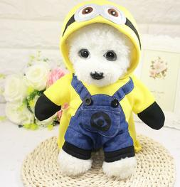 Cute Small Pet Dog Clothes Hoodie Coat Cartoon Costume Puppy