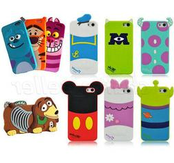 Cute Soft Cartoon Silicone Back Case Cover Skin For Apple iP