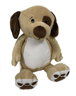 Dog 8 Inch Sitting Soft Tan & White Stuffed Plush Toy