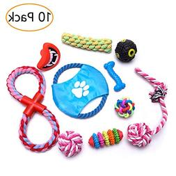 Groovypaws Dog Chew Toys,Dog Toys Set 10 Pack, Variety Inter