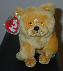 Ty Beanie Baby ~ DOG  the Chow Dog ~ MINT with MINT TAGS