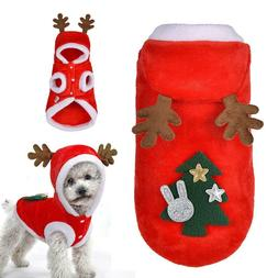 Dog Christmas Clothes Costume Winter Dog Cat Coat For Small