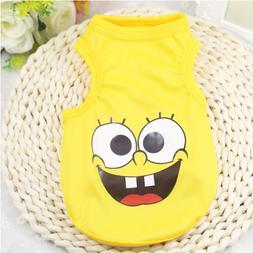Dog Clothes SpongeBob Yellow Dog T Shirt for Small Dog or Ca