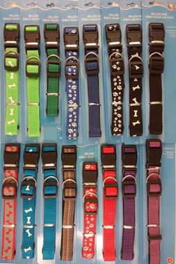 DOG COLLARS ADJUSTABLE NYLON STRAP for Smaller Dogs SELECT: