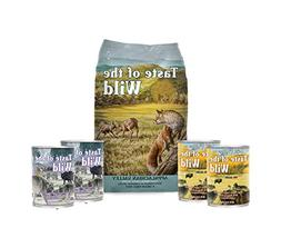 Taste of the Wild Dog-Food Grain Free 6 Pack  5lb Bag 4 Cans