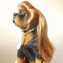 Tangpan Dog Pet High Temperture Wire Wig Color Gold Lady