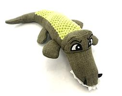 'Caroline The Crocodile' Dog Squeak Toy/Tuscan Olive Green H