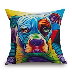 Dog Throw Pillow Covers 16 X 16 Inches / 40 By 40 Cm For Kit