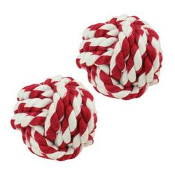 dog toy rope ball for dogs x2