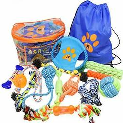 Dog Toys - Set of 13 Dog Chew Toys for Puppy and Small Dogs