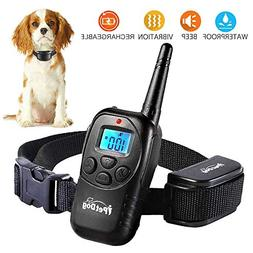 Dog Training Collar with Remote Control Waterproof Train Rec