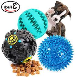 EETOYS Dog Treat Dispensing Toy,IQ Treat Ball with Squeaker,