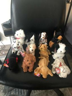 Dogs TY Beanie Babies Lot of 19