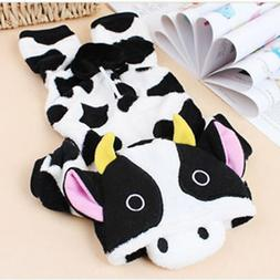 Dogs Clothes Dairy Cow Pets Costume For Cats Puppy Hoodie Wi