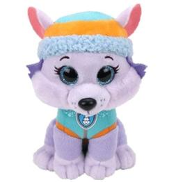 "Everest Wolf 6"" Ty Beanie Boos Puppy Glitter Big Eyes Plush"