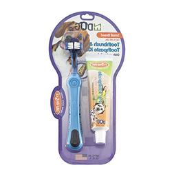 EZ Dog 3-Sided Toothbrush & Natural Toothpaste Kit for Small