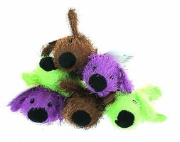 Flat Plush Loofa Animal Squeaking Dog Play Lot of 6 PK235