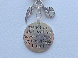 FOREVER IN MY HEART PET DOG CAT MEMORIAL GIFT KEYCHAIN CLIP