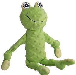BINGPET Frog Squeaky Dog Toy Plush Puppy Toys 17.5""