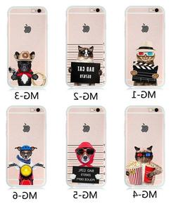Funny Dog / Cat Thin Hard  Clear Back Case Cover For iPone 6
