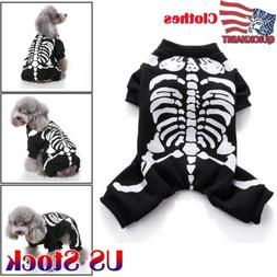 Halloween Pet Dog Clothes Costume Horror Skeleton Clothes Fo