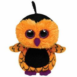 TY Halloweenie Beanie Baby - OZZIE the Owl  -MWMTs Stuffed H