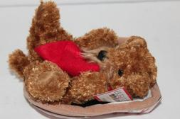 Douglas Hot Dogs Brown Airedale Plush Toy Puppy Dog NEW