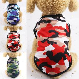 Hot Summer Dog Clothes Camouflage Vest For Small Dogs Pet Pu