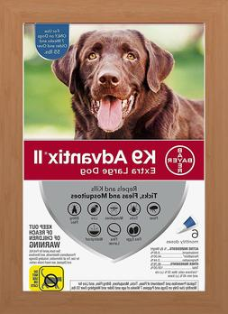 K9 Advantix II Flea & Tick Treatment for Extra Large Dogs Ov