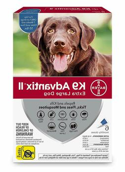 K9 Advantix II for Extra Large Dogs Over 55 lbs - 6 Pack - N