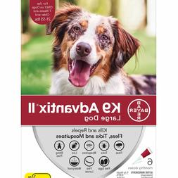 K9 Advantix II for Large Dogs 21-55 lbs - 6 Pack - FREE Ship
