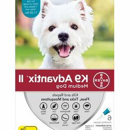 K9 Advantix II for Medium Dogs 11-20 lbs - 6 Pack - FREE Shi