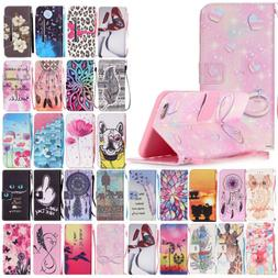 For iPhone 6s 7 8 Plus Strap Magnetic Case Leather Card Wall