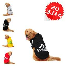 Jacket For Dog Soft Cotton Hoodie Pet Adidog Winter Warm Spo