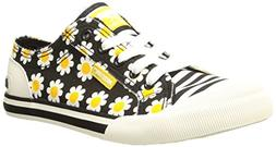 Rocket Dog Women's Jazzin Lace-Up,Black Daisy Field,6 M US