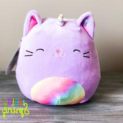 """Kellytoy Squishmallow 8"""" Inch Archie Pink Axolotl Fish NEW S"""
